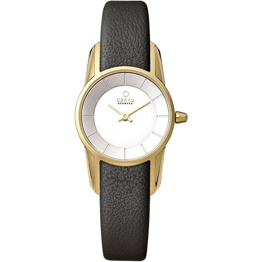 Đồng hồ đeo tay nữ dây da Obaku V130LXGIRB