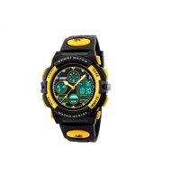 Đồng hồ điện tử bé trai dây nhựa SK094 - màu vàng/ đỏ
