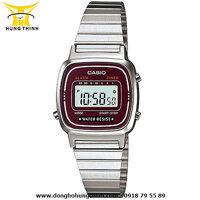 Đồng hồ điện tử nữ dây thép Casio LA670WA