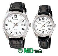 Đồng hồ đôi dây da Casio MTP + LTP-1302L-7BVDF
