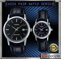 Đồng hồ đôi dây da Casio Quartz MTP+LTP-V002L-1AUDF