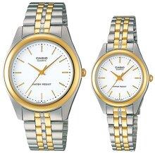 Đồng hồ đôi dây kim loại Casio MTP+LTP-1129G-7ARDF