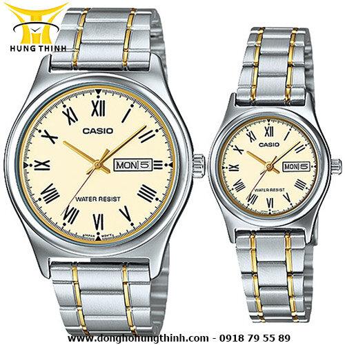 Đồng hồ đôi dây thép Casio MTP-V006SG-9BUDF VÀ LTP-V006SG-9BUDF