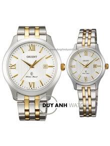 Đồng hồ đôi dây thép không gỉ Orient FUNE7001W0+FSZ3Z001W0