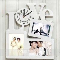 Đồng hồ khung ảnh chữ Love