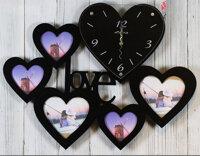 Đồng hồ khung ảnh trái tim đen
