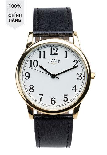 Đồng hồ kim Limit 5615 mạ vàng dây da