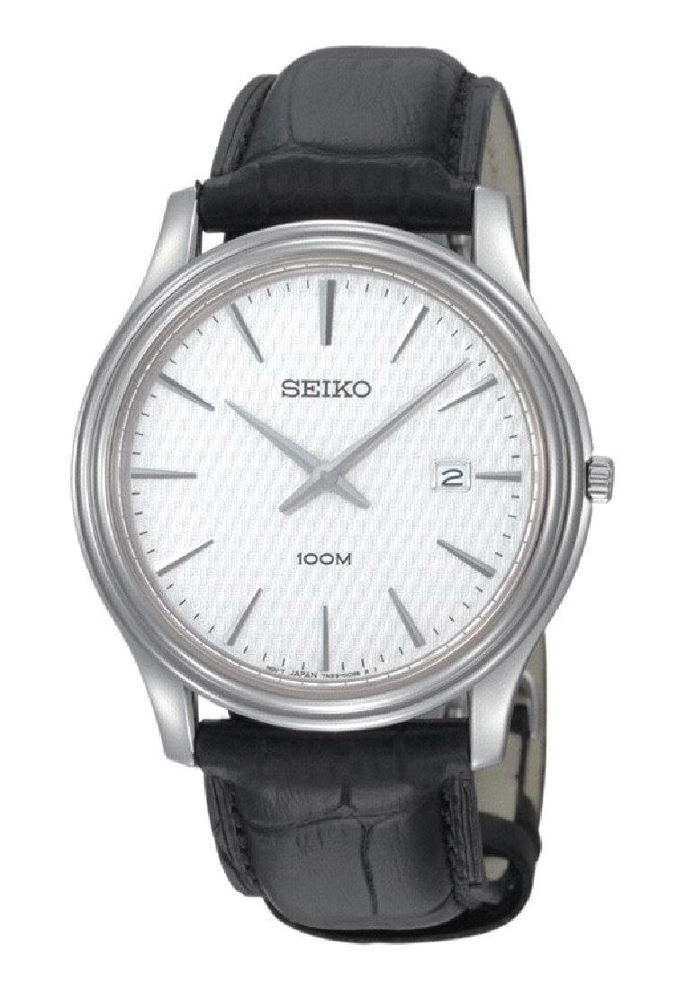 Đồng hồ kim nam dây da Seiko SKP349P1