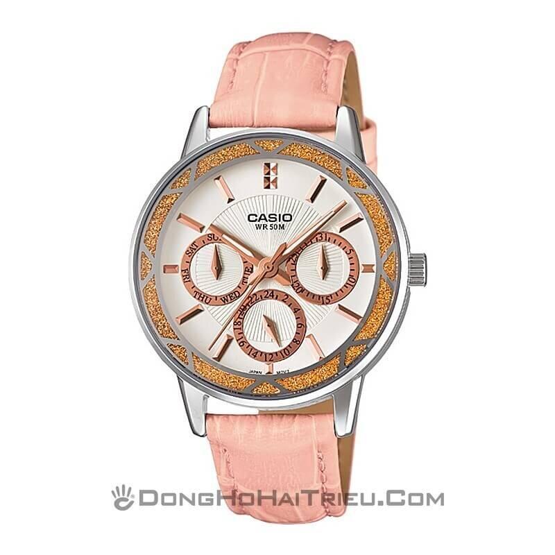 Đồng hồ kim nữ Casio LTP-2087L-4AVDF - dây da