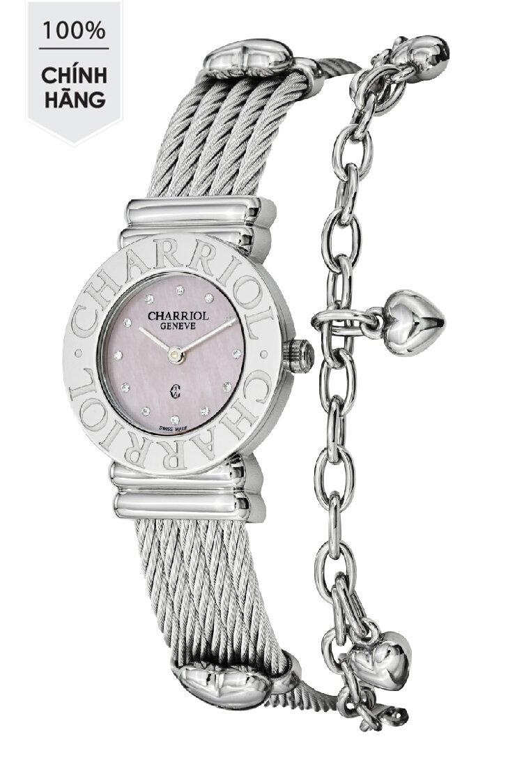 Đồng hồ kim nữ Charriol 028CC550462