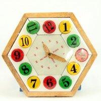 Đồng hồ lục giác số tròn Etic C601C