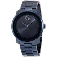 Đồng hồ Movado Bold Black Dial Blue PVD Unisex Watch 3600296