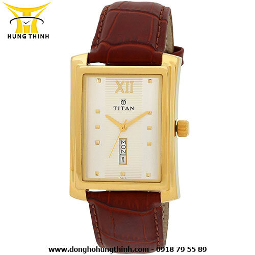 Đồng hồ nam dây da 3 kim Titan 90023YL01