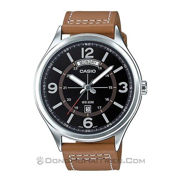 Đồng hồ nam dây da Casio MTP-E129L-5AVDF