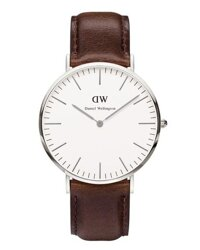 Đồng hồ nam dây da Daniel Wellington - 0209DW - Silver 40mm
