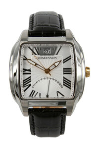 Đồng hồ nam dây da Romanson TL1273MCWH