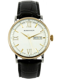 Đồng hồ nam dây da Romanson TL1275MCWH