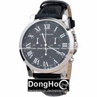 Đồng hồ nam dây da Romanson Quartz TL0334HMWBK - màu BK/ WH
