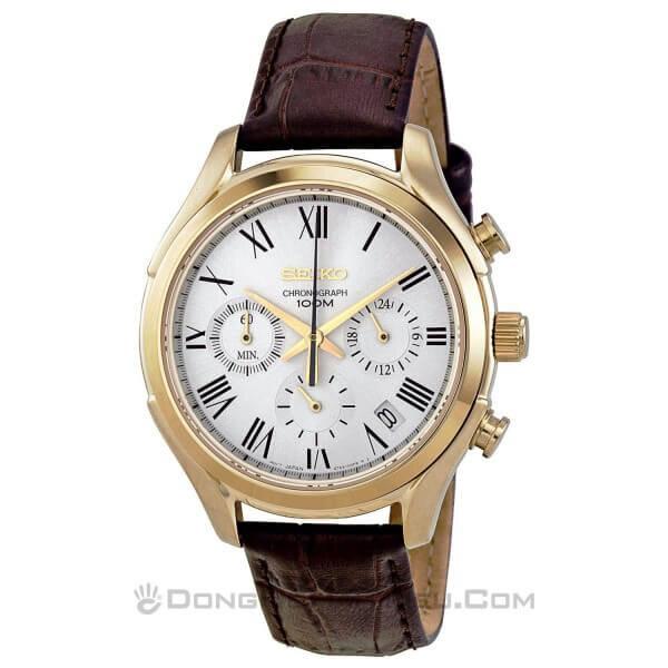 Đồng hồ nam dây da Seiko SSB022P1