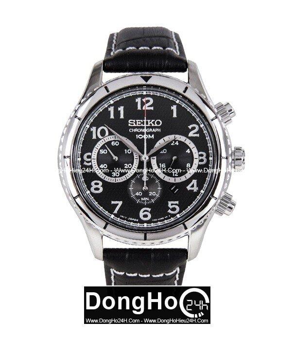 Đồng hồ nam dây da Seiko SRW037P2