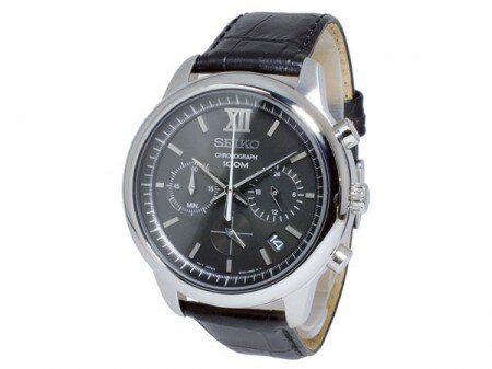 Đồng hồ nam dây da Seiko Quartz SSB139P2