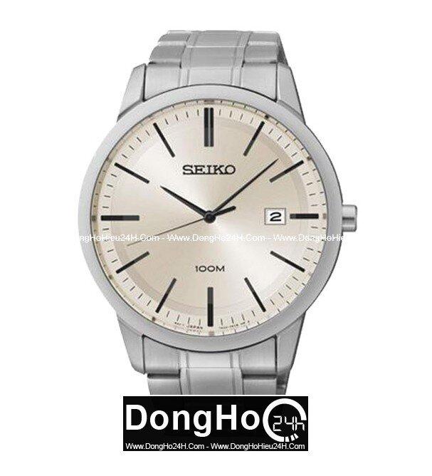 Đồng hồ nam dây da Seiko Quartz SGEH07P1