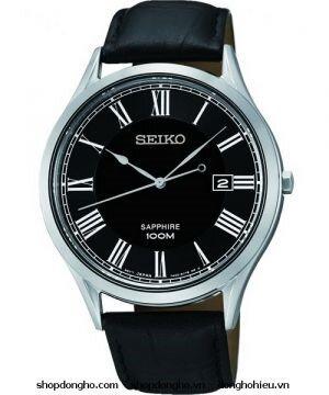 Đồng hồ nam dây da Seiko Quartz SGEG99P1