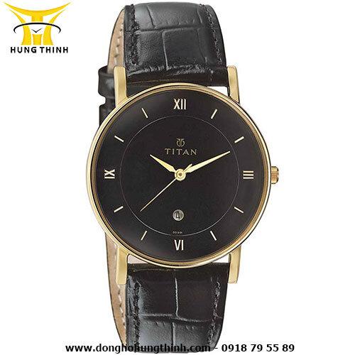 Đồng hồ nam dây da Titan 9162YL02