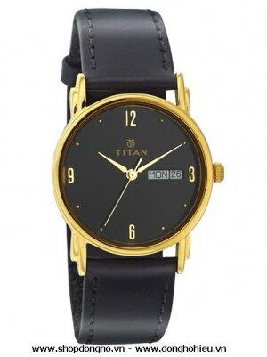 Đồng hồ nam dây da Titan 1445YL06