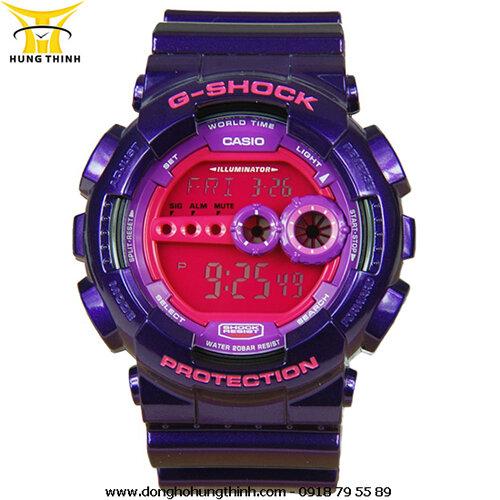 Đồng hồ nam dây resin Casio Gshock GD-100SC