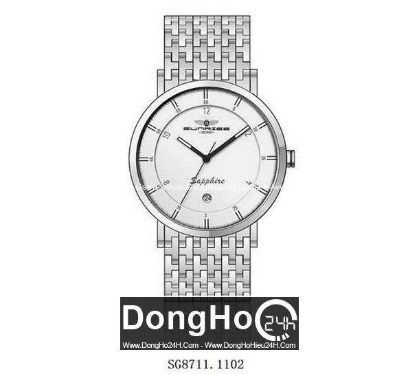 Đồng hồ nam dây thép không ghỉ Sunrise SG8711 - màu 1101/ 1102/ 1301/ 1302