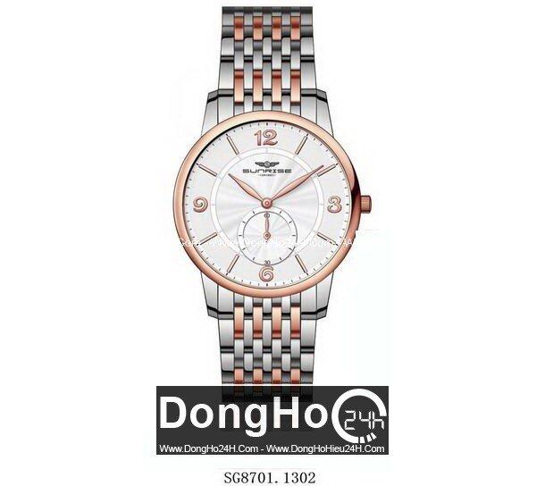 Đồng hồ nam dây thép không gỉ Sunrise SG8701 - màu 1101/ 1102/ 1301/ 1302