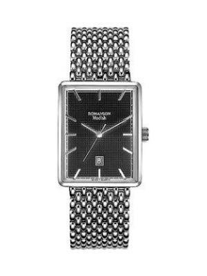 Đồng hồ nam dây thép không gỉ Romanson DM5163LWBK