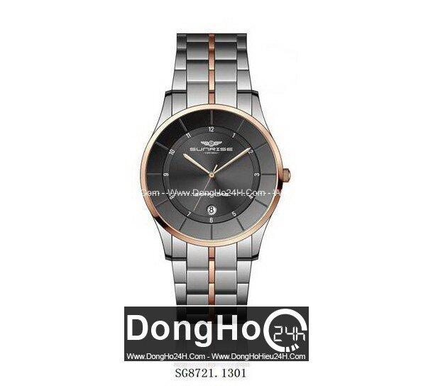 Đồng hồ nam dây thép không gỉ Sunrise Quartz SG8721 - màu 1601/ 1101/ 1102/ 1301/ 1302