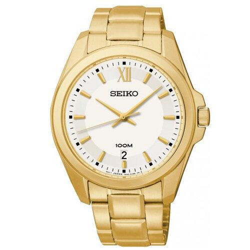 Đồng hồ nam dây thép không gỉ Seiko Quartz SGEG64P1