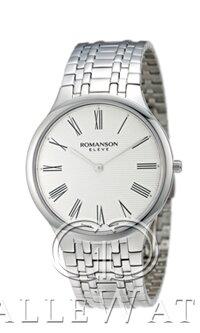 Đồng hồ nam dây thép không gỉ Romanson Quartz EM4252MWWH - màu WH/ BK
