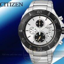 Đồng hồ nam dây thép không gỉ Citizen Quartz AN3401-55A