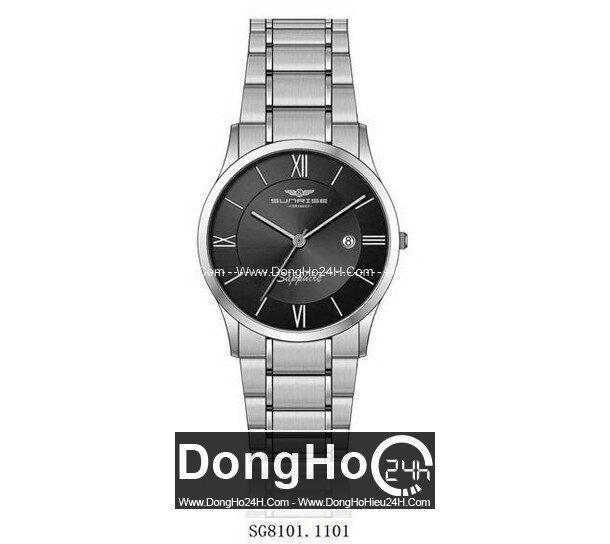 Đồng hồ nam dây thép không gỉ Sunrise Quartz SG8101 - màu 1102/ 1101/ 1201/ 1202