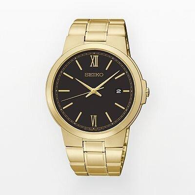 Đồng hồ nam dây thép không gỉ Seiko Quartz SGEG48P1