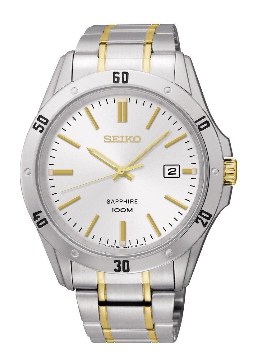 Đồng hồ nam dây thép không gỉ Seiko Quartz SGEG57P1