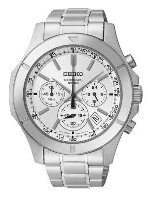 Đồng hồ nam dây thép không gỉ Seiko Quartz SSB099P1