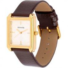 Đồng hồ nam mặt vuông dây Sonata 7053YL08