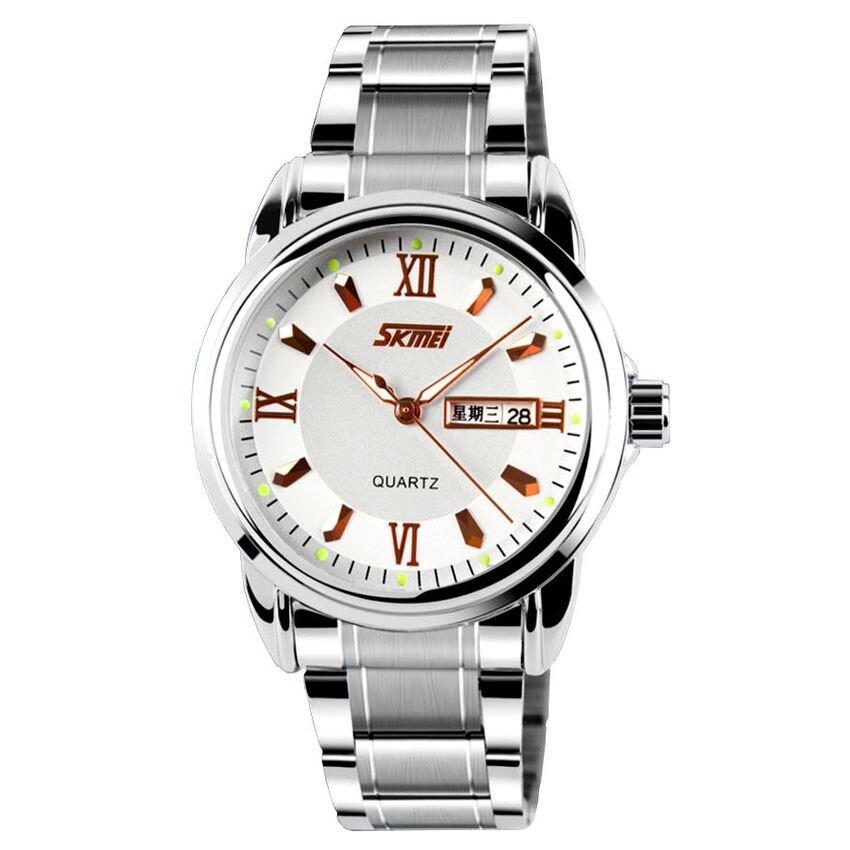 Đồng hồ nam Skmei 90KN82 - dây thép không gỉ