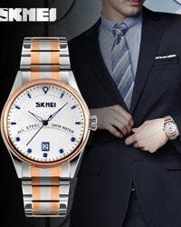 Đồng hồ nam Skmei 9123 - dây kim loại
