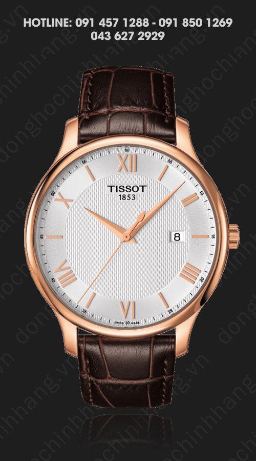 Đồng hồ nam Tissot T063.610.36.038.00 - dây da