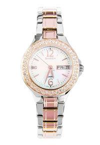 Đồng hồ nữ Casio SHE-4800SG - dây kim loại