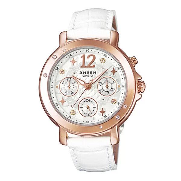 Đồng hồ nữ Casio SHE-3033GL-7AUDR - dây da