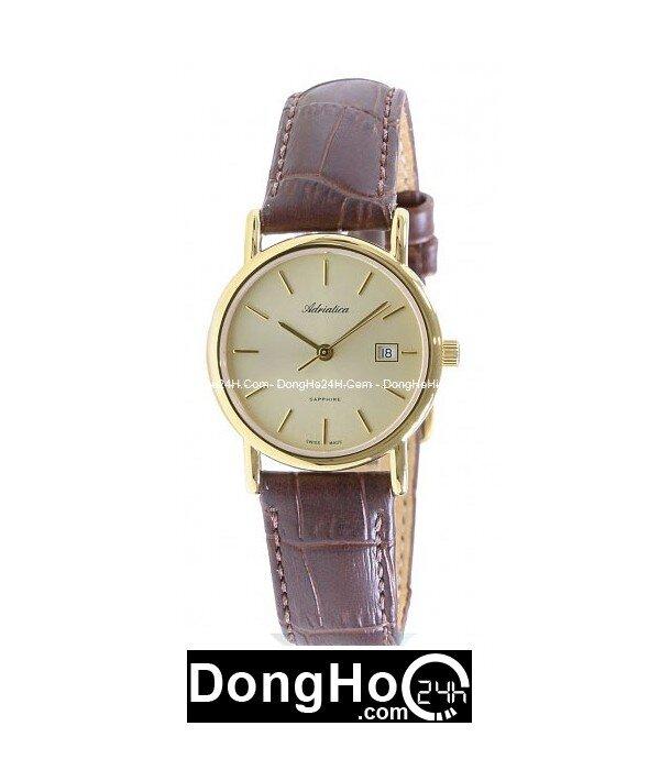Đồng hồ nữ dây da Adriatica A3159.1211Q