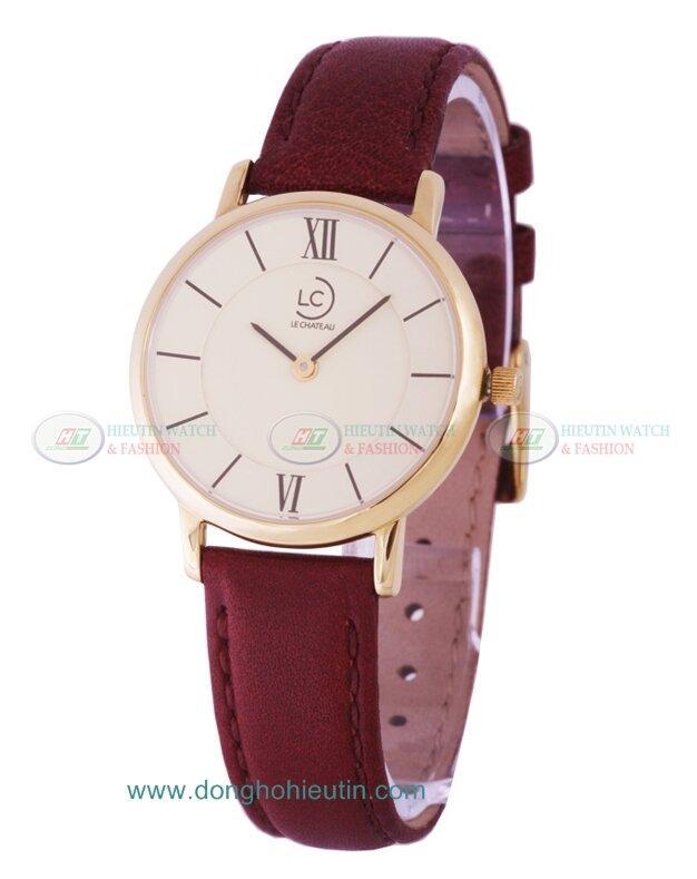 Đồng hồ nữ dây da Le chateau Quartz L01.076.04.6.1