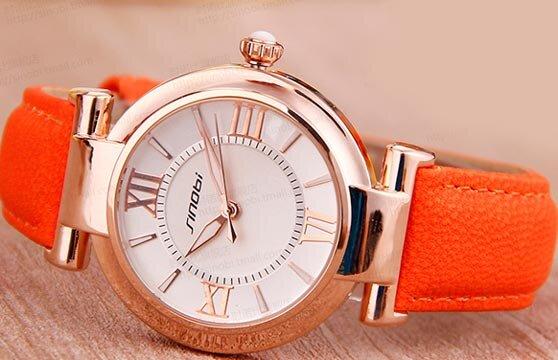 Đồng hồ nữ dây da Sinobi 9458 SI014